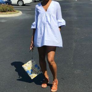 Blue Skort Mini Dress